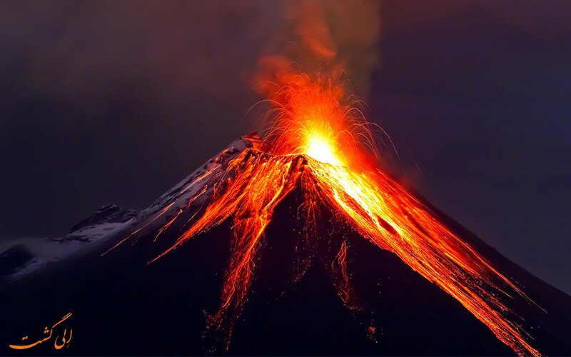تحقیق درباره آتشفشان و ویژگی های آن
